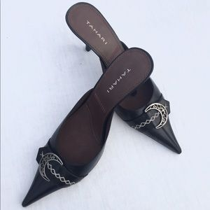 Tahari Pointed Leather Dillon Heels